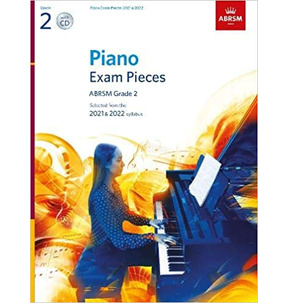 ABRSM Piano Exam Pieces: 2021-2022 (Grade 2) Book & CD