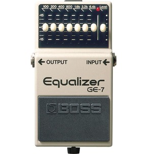 Boss GE-7 Graphic Equalizer Compact Guitar Effects Pedal