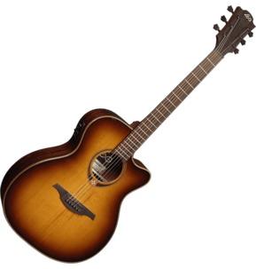 Lag Tramontane 118 T118ACE-BRS Auditorium Cutaway Electro Acoustic Guitar