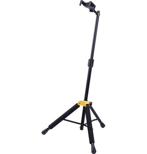 Hercules Guitar Stand GS415B PLUS features the upgraded foldable Auto Grip System