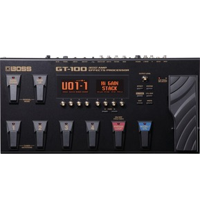 Boss GT-100 Guitar Effects Processor With AC Adaptor