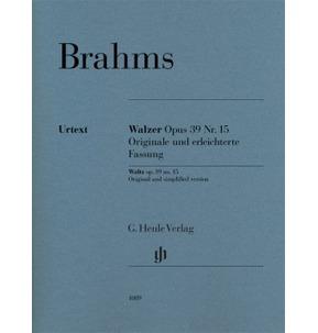 Brahms - Waltz op. 39 no. 15 - Piano Solo