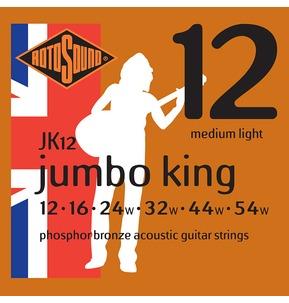 Rotosound JK12 Jumbo King Medium Light 12-54w Acoustic Guitar Strings