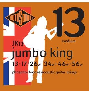 Rotosound JK13 Jumbo King Medium 13-56w Acoustic Guitar Strings