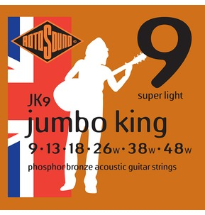 Rotosound JK9 Jumbo King Super Light 9-48w Acoustic Guitar Strings