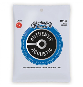 C.F. Martin MA140 80/20 Bronze Light 0.12-0.54 Acoustic Guitar Strings