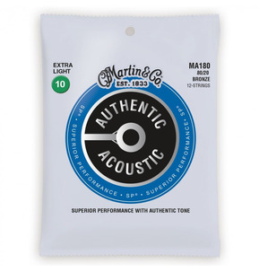 C.F. Martin MA180 12-String Bronze Extra Light 0.10-0.47 Acoustic Guitar Strings