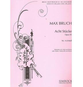 Max Bruch: 8 Pieces in D minor, op. 83/4