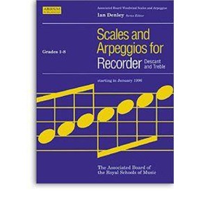Scales and Arpeggios for Recorder - Grades 1-8 - ABRSM