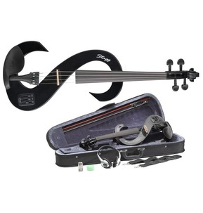 Stagg Electric Violin Outfit in Black Including Headphones