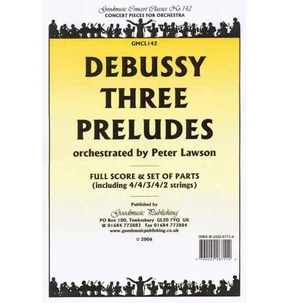 REDUCED Debussy - Three Preludes - Full Score + Parts