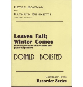 REDUCED! Leaves Fall: Winter Comes - Alto Recorder - Sale