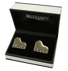 Grand Piano Silver-Plated Cufflinks