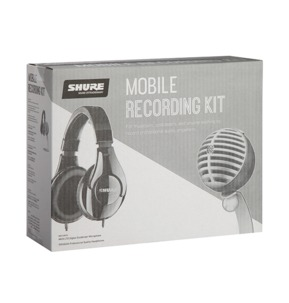 Shure Mobile Recording Kit - MV5-LTG Condenser Microphone / SRH240A Headphones
