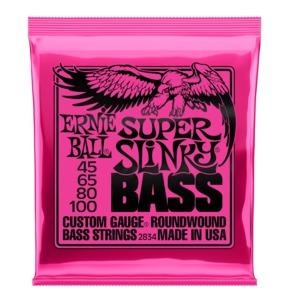 Ernie Ball Super Slinky Nickel Wound Bass Guitar Strings, 45-100