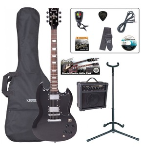 Encore E69 'SG' Shape Electric Guitar Pack