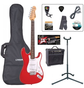 Encore E6 'S' Shape Electric Guitar Pack - Red - B Stock