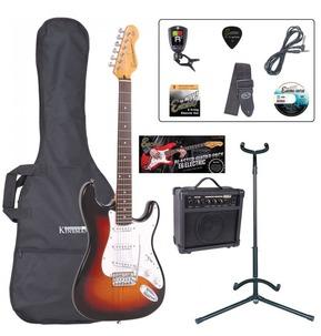 Encore E6 'S' Shape Electric Guitar Pack