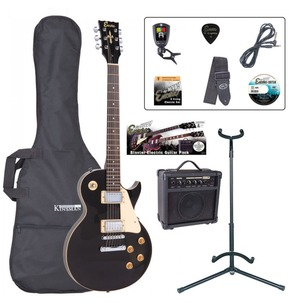 Encore E99 'LP' Shape Electric Guitar Pack - Gloss Black