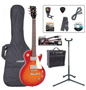 Encore E99 'LP' Shape Electric Guitar Pack - Cherry Sunburst