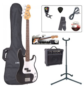 Encore E4 'P' Shape Electric Bass Guitar Pack