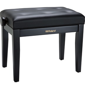 Roland RPB300 Satin Black Adjustable Piano Stool with Button Top