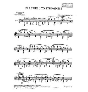 Farewell to Stromness Guitar Transcription