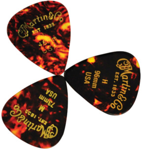 C.F. Martin 351 Faux Tortoise .96mm Heavy Guitar Pick - Pack of 12
