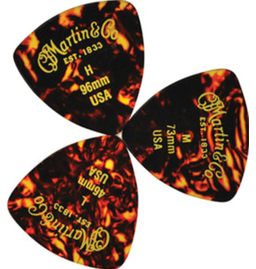 C.F. Martin 346 Faux Tortoise .96mm Heavy Guitar Pick - Pack of 12