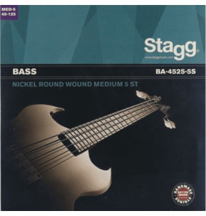 Stagg Bass Roundwound 5 String Set Guage 45-125