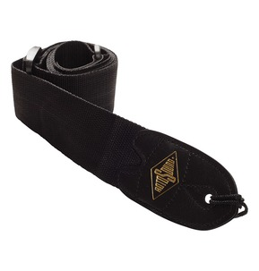 Rotosound STR1 High Quality Strap With Leather Ends - Black