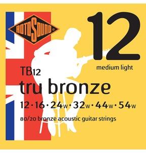 Rotosound TB12 Tru Bronze Extra Light 12-54w Acoustic Guitar Strings