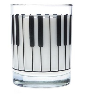 Glass Keyboard Design Tumbler