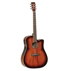 Tanglewood Winterleaf Exotic TW5 KOA Dreadnought Autumn Burst Electro Acoustic Guitar