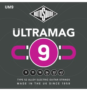 Rotosound UM9 ULTRAMAG 9-42w Type 52 Alloy Electric Guitar Strings