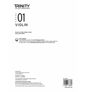 Trinity College London: Violin Exam Pieces 2020-2023 Grade 1 (Part Only)