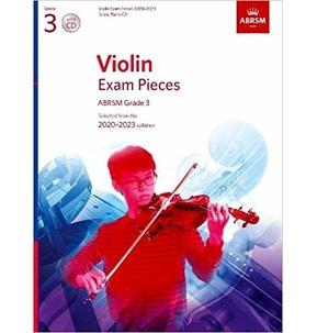 ABRSM Violin Exam Pieces 2020-2023 Grade 3 - Score, Part & CD