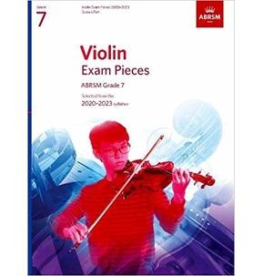 ABRSM Violin Exam Pieces 2020-2023 Grade 7 - Score & Part