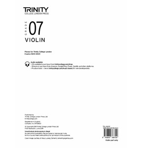 Trinity College London: Violin Exam Pieces 2020-2023 Grade 7 (Part Only)