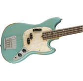 Fender JMJ Road Worn Mustang Bass, Faded Daphne Blue, Rosewood