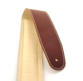 "DSL GEG25-16-3 2.5"" Padded Garment Maroon/Beige Guitar Strap"