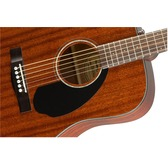 Fender CD-60S All-Mahogany Acoustic Guitar, Natural, Walnut