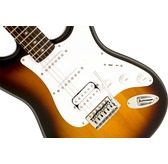 Fender Squier Bullet Strat With Tremolo HSS, Brown Sunburst, Indian Laurel