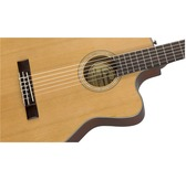 Fender CN-140SCE, Natural, Rosewood Electro Classical Nylon Guitar & Hard Case