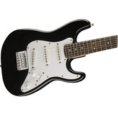 Fender Squier Mini Strat (v2), Black, Rosewood, Electric Guitar - Black