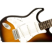 Fender Squier Affinity Series Stratocaster Left-Handed, Brown Sunburst, Laurel