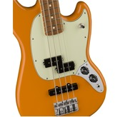 Fender Mustang Bass Guitar in Capri Orange, Pau Ferro