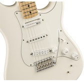 Fender EOB Sustainer Stratocaster, Olympic White, Maple Neck