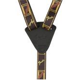 Fender Ukulele Strap, Black/Yellow/Brown