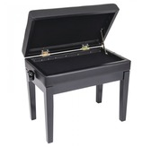Kinsman KPB10 Deluxe Adjustable Piano Bench Satin Black